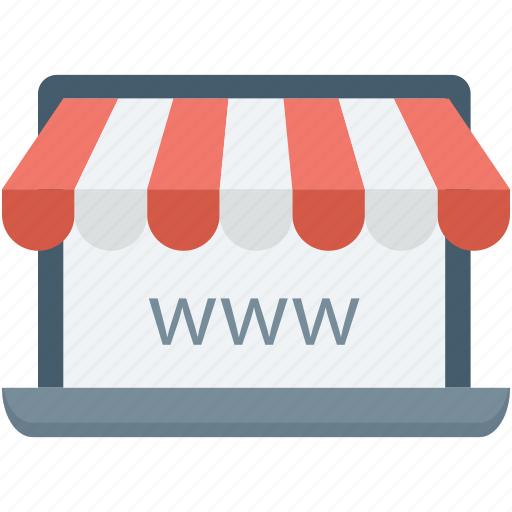 ecommerce, eshop, online shop, online shopping, www icon