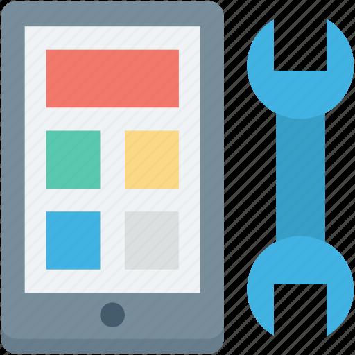 mobile, mobile development, mobile repair, mobile setting, spanner icon