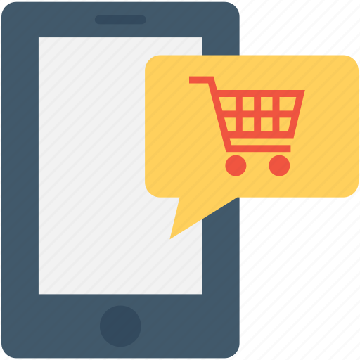 e commerce, m commerce, online shop, online shopping, shopping app icon