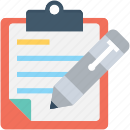 clipboard, content writing, notes, storytelling, writing icon