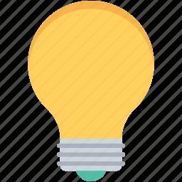 bulb, electric light, electrical bulb, light bulb, luminaire icon