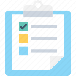 agenda, checklist, clipboard, plan list, schedule icon