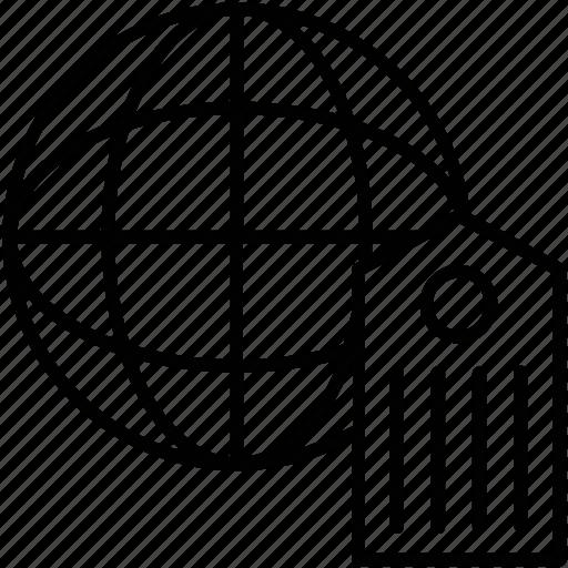 globe, keyword, optimization, seo tag, tags icon