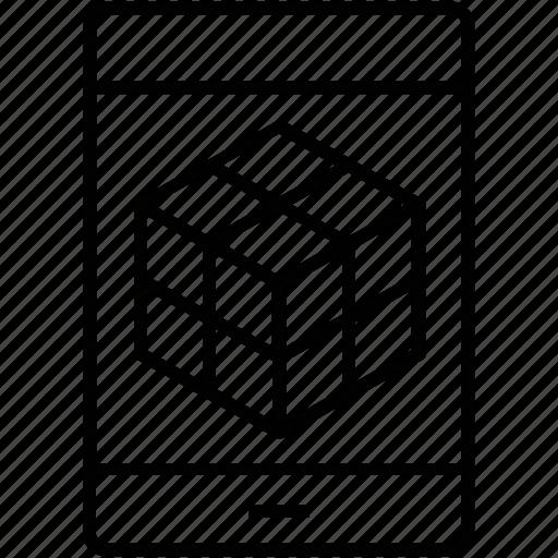 3d, 3d modeling, cube, design, shape icon