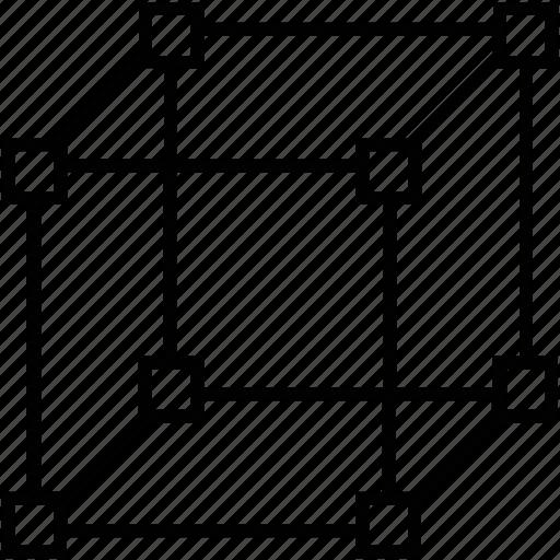 3d cube, 3d modeling, cube, design, shape icon