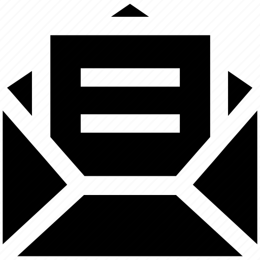 development, envelope, letter, mail, message, open envelope, page icon