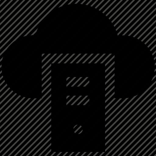 cloud, cloud computing, cpu, cpu tower, networking, sharing, web icon
