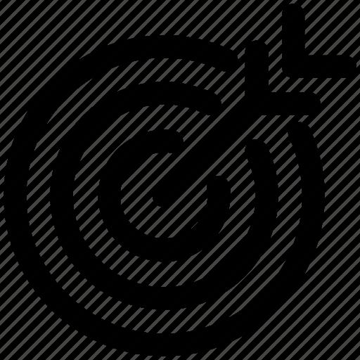Aim, arrow, bullseye, center, goal, shoot, target icon - Download on Iconfinder
