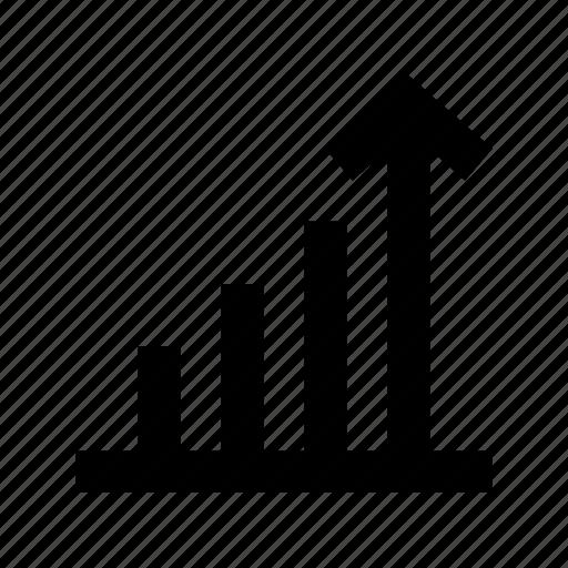 analytics, bar chart, bar graph, mobile signals, signal bars icon