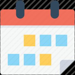 calendar, schedule, timeframe, wall calendar, yearbook icon