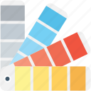 color palette, color swatch, colour guide, colour sampler, paint swatches icon
