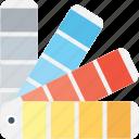 color palette, color swatch, colour guide, colour sampler, paint swatches icon