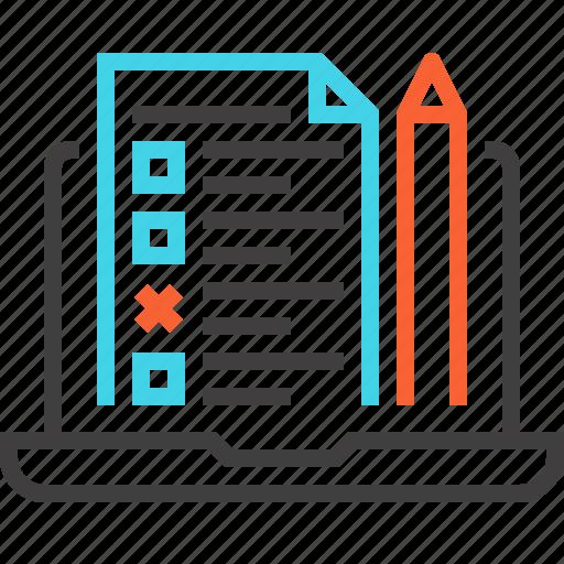 checklist, computer, evaluation, test, testing, usability, web icon