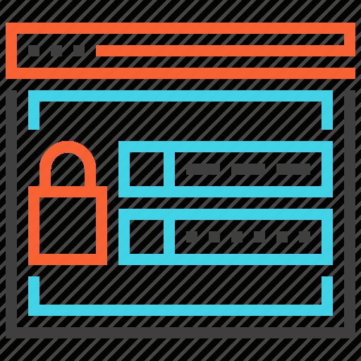 account, identity, login, password, security, user, web icon