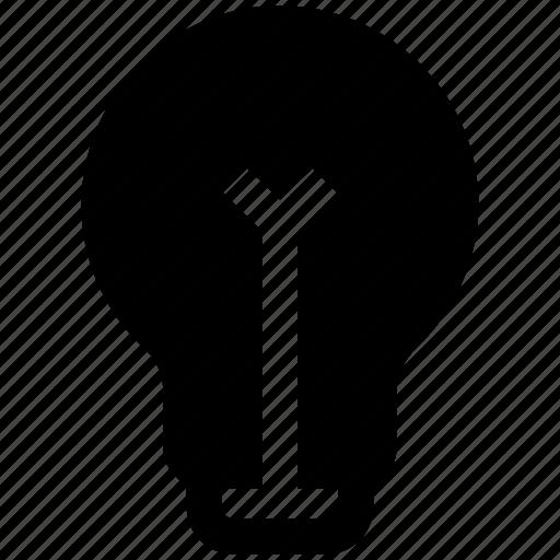bulb, creative, idea, lamp, light, light bulb icon