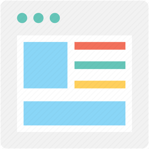 blog template, design element, layout, layout grid, template icon