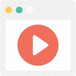 media player, online buffering, online streaming, video player, video streaming icon