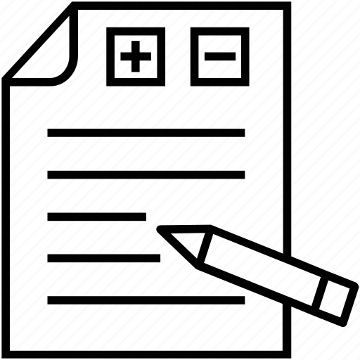 blueprint, draft, plan, pros and cons, scheme icon