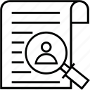 find job, job search, magnifier, search, usability icon