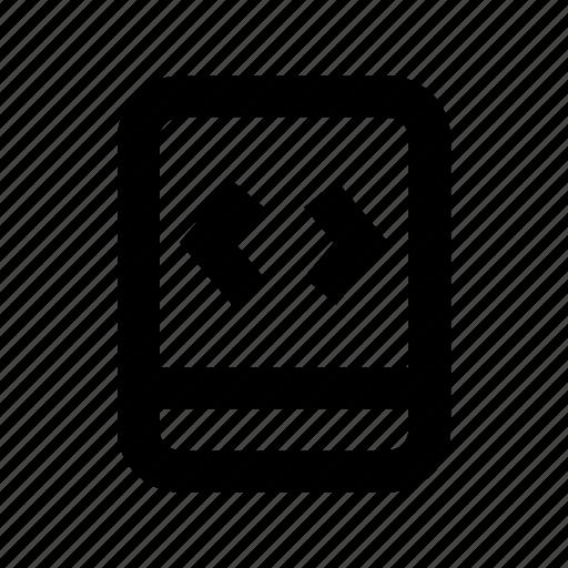 app development, arrows, div, mobile, mobile development icon