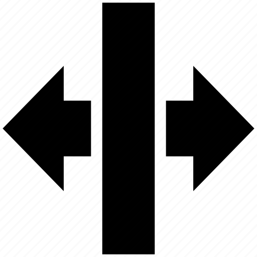 action, arrows, control, design, expand, horizontal, tool icon