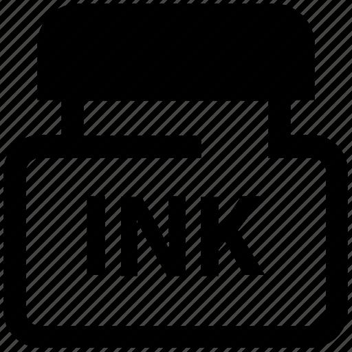 bottle, ink, ink bottle, ink box, ink pot, jar, pot icon