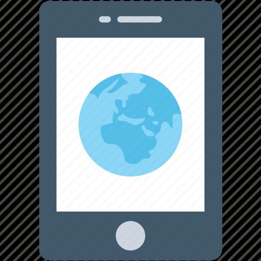 globe, mobile, mobile data, mobile internet, smartphone icon