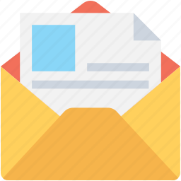 email, envelope, letter, message, resume icon