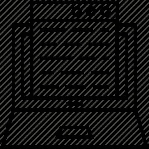 binary, coding, development, laptop, programming icon