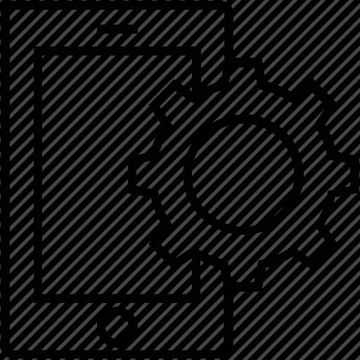 cogwheel, mobile, mobile development, programing, settings icon