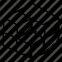 3d cube, cubes, cubic pattern, design element, hexagons icon