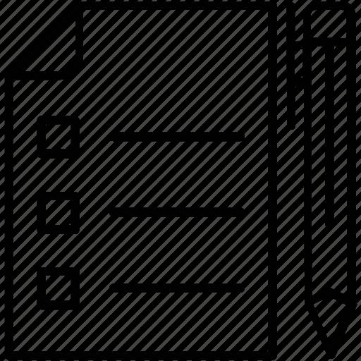 list, pen, planning, strategy, tasks icon
