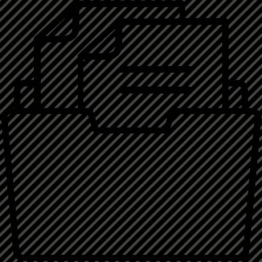 data, documents, folder, sheet, storage icon