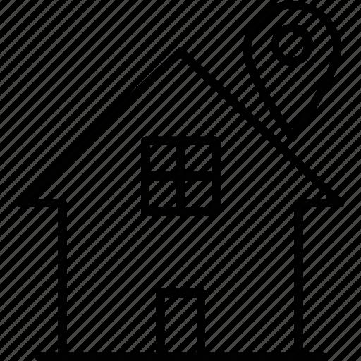 gps, home, local seo, navigation, pin icon