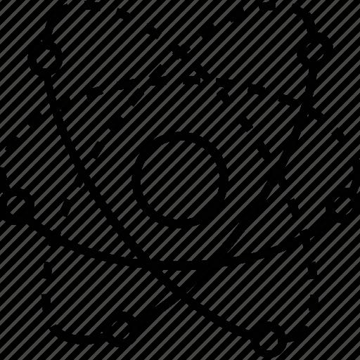atom, electron, idea, molecular, proton icon