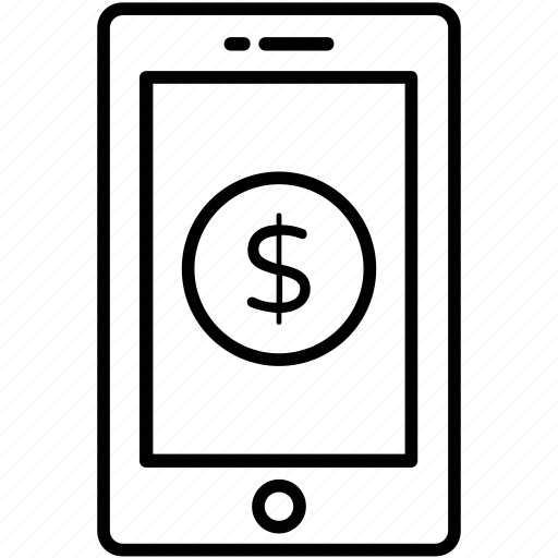 dollar, m commerce, payment, payment method, smartphone icon