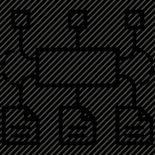 algorithm, architecture, data, program icon
