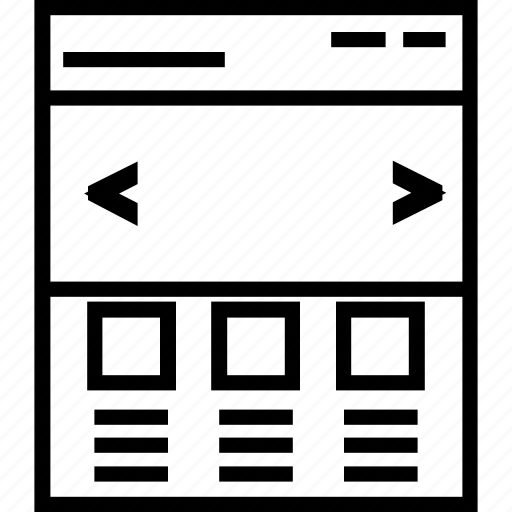web content, web grid, webpage icon