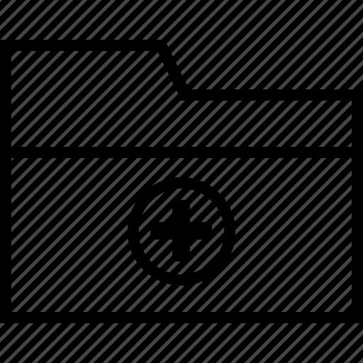 add to folder, folder, new folder icon