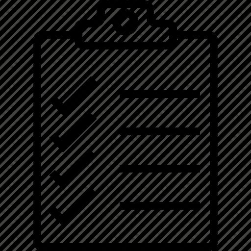 agenda, list, paper, plan list icon