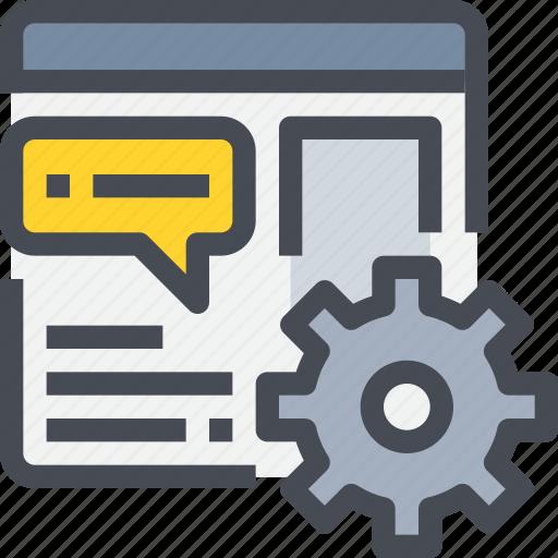browser, develop, development, management, process, web icon