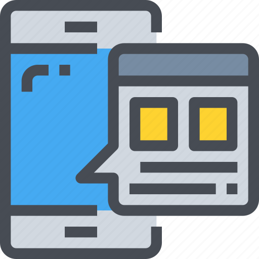browser, mobile, smartphone, web, website icon