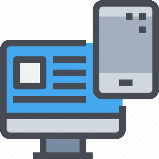computer, devices, electronics, mobile, smartphone, technology icon