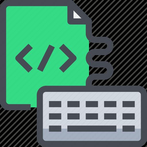 code, coding, develop, development, keyboard, programming icon