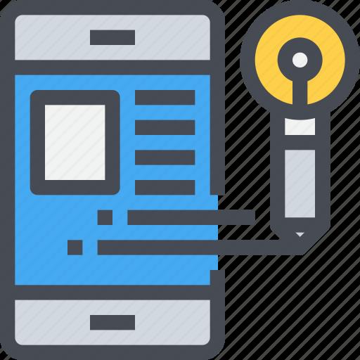 app, content, creative, developer, idea, mobile, smartphone icon