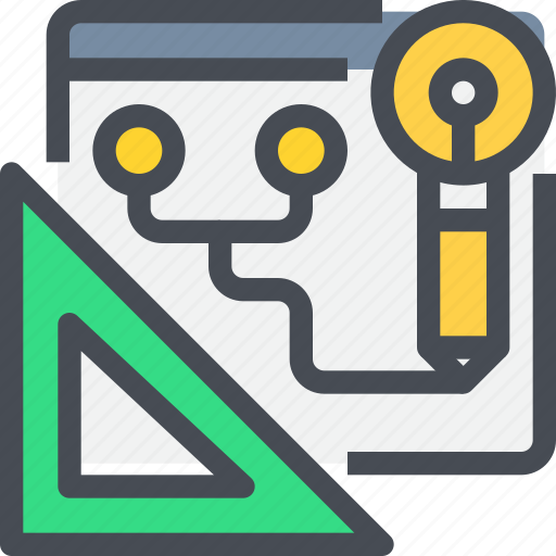 creative, design, idea, planning, process, web icon
