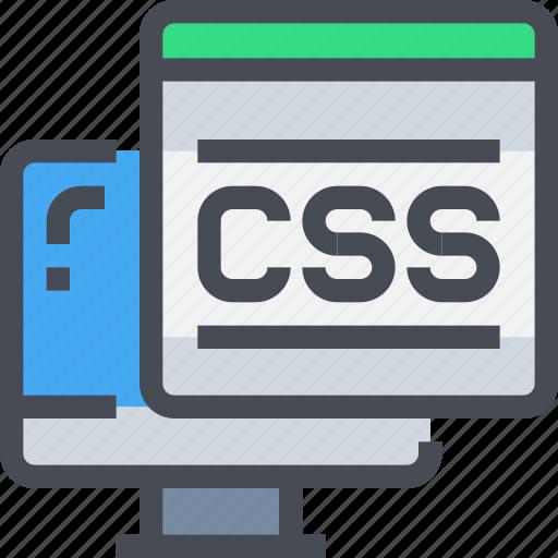 code, coding, computer, css, programming icon