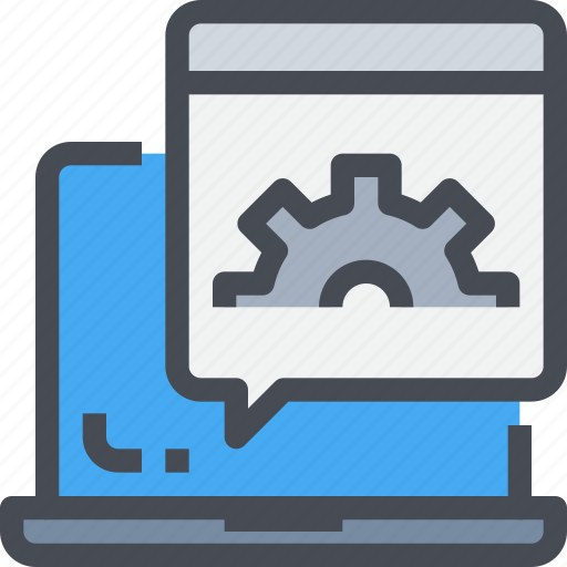 computer, develop, development, gear, process, web icon