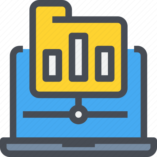 connect, data, document, folder, network, report, storage icon