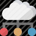 data center, database server, hosting center, server icon